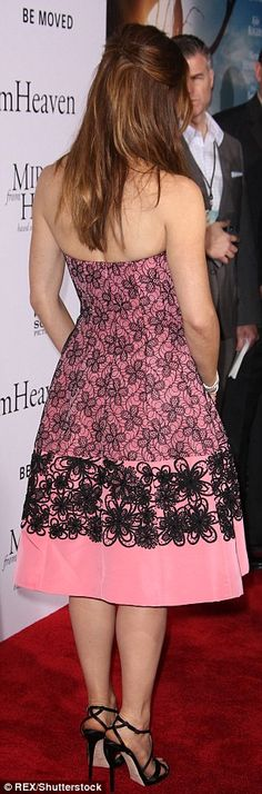 Preppy princess: The Golden Globe winner - who turns 44 next month - looked girly in her s...