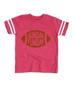 Another great find on #zulily! Hotpink 'Sunday Funday' Football Tee - Toddler & Kids #zulilyfinds