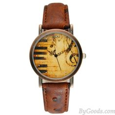 Retro Eiffel Tower Big Ben Piano Pattern Metal Watch only $27.99 in ByGoods.com!