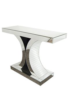 Art Deco Venetian Glass Console Table. Stunning Silver Console Table Home  Decor Inspiration And Ideas
