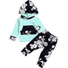0a59545022db HappMA Infant Baby Girl Fall Outfits Long Sleeve Floral Hoodie Tops Pants Clothes  Set 121890 -- Continue to the product at the image link.