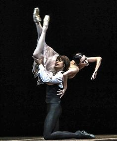 """Olga Smirnova and Artem Ovcharenko in John Neumeier's """"Lady of the Camellias"""" (Marguerite and Armand) at The Bolshoi Theatre /March 23, 2014 /photo by Philippe Jordan..."""