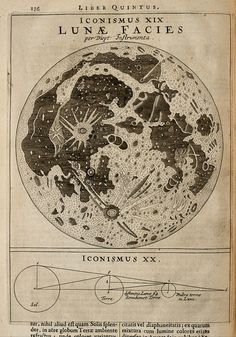 Lunar landscape Astronomy THE TIMES 1900 old antique map chart The Moon