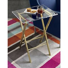 """I think that is best looking """"TV tray"""" I ever seen! $149.   novo acrylic folding table in novogratz holiday collection 