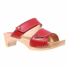 5471a7e17 Sanita Elmina Wood Flex Sandal in Red Clog Sandals