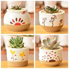 Aliexpress.com: Comprar Corea del sur de escritorio maceta creativa zakka cerámica bonsai olla de los hogares regalos de artesanía de bonsái tierra para macetas fiable proveedores en EWAY Technology #Bonsaimacetas