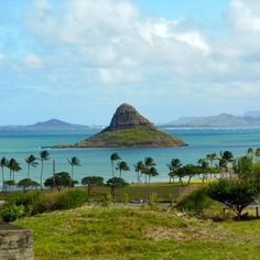 Chinaman's Hat, west coast, Oahu, you can walk out to it at low tide.