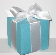 Tiffany Inspired Blue Favor Boxes -- Best Seller