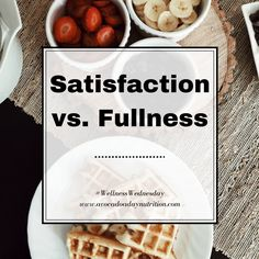 """Intuitive eating is all about using internal cues, like hunger and fullness, to guide eating. Eat when you're hungry, stop when you're full. But sometimes Intuitive Eating is taught as a """"hunger/fullness"""" diet, which overlooks the importance of satisfaction, which is an even more imp"""