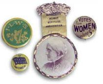 NWHM Woman Suffrage Exhibition American colors were purple, whit, and gold - documented at this site. BA