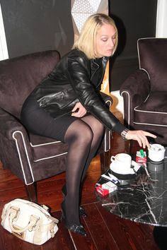 Heavy smoking blonde