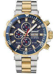 Ingersoll Herreur Bison No. Ingersoll Watches, Bison, Color Dorado, Rolex, Watches For Men, Bangles, Clock, Mens Fashion, Earrings
