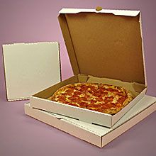 White Unprinted Pizza Boxes