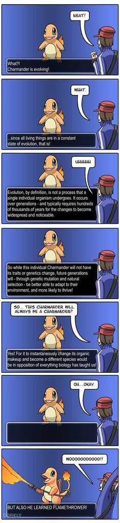 If Pokémon Evolution Was Realistic /// actually this is talking about macroevolution! so microevolution of pokemon might still be possible (: