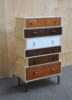 Elemental Antique Vintage Retro Furniture Lighting Seating : Antique :  Up Cycled Chest Of Drawers