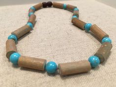 Hazelwood Necklace Turquoise Baby, Infant, Toddler, Big Kid. 12.5 inches The hazelwood is specific in fighting: colic, acid reflux, vomiting, stomach issues, GERD, & eczema. Turquoise for asthma and breathing