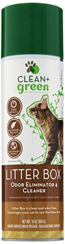 Clean  Green Litter Box Odor Remover and Cleaner for Cats 16Ounce * You can get more details by clicking on the image.