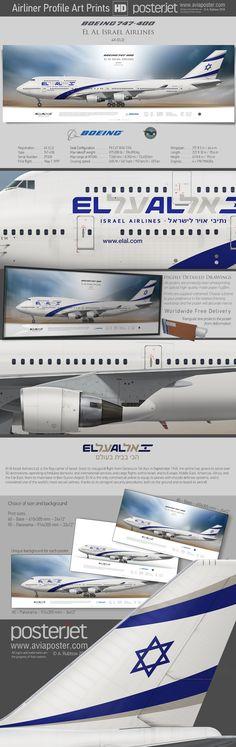 Boeing 747-400 El Al Israel Airlines 4X-ELD | www.aviaposter.com | #aviation #jetliner #airplane #pilot #aviationlovers #avgeek #jet #airport #pilotlife #cabincrew