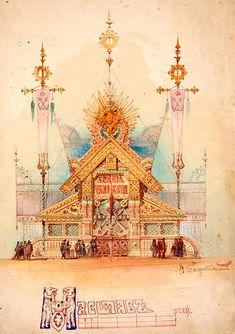 Viktor Hartmann - Naval Russia's pavilion at the 1873 World Fair, design