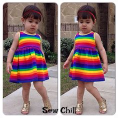 """""""over the rainbow"""" genevieve style dress by Sew Chill"""