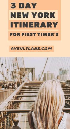 New York Itinerary for first timer's:The best way to spend 3 days in New York City. Trying to cram a two week vacation into three days? This New York travel guide will help you as you plan your trip so you won't miss any of the top things to do in New York City. Including the Brooklyn Bridge, Time Square, shopping, the Empire State Building, Central Park and so much more! #newyork #NYC class=