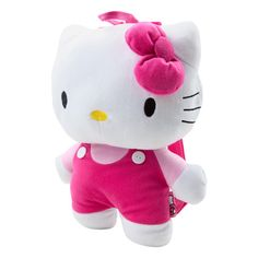 HELLO KITTY Plush Backpack (13.995 CLP) ❤ liked on Polyvore featuring bags, backpacks, hello kitty, accessories, pink, backpacks & bags, women, zip bags, backpack bag and hello kitty knapsack