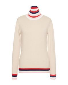 This long sleeve **Emilio Pucci** pullover is rendered in cashmere silk wool and features a funnel neck with variegated striped trim and a relaxed fit. Fashion Week 2015, Silk Wool, Emilio Pucci, Casual Chic, Cashmere, Men Sweater, Beige, Pullover, Sweaters