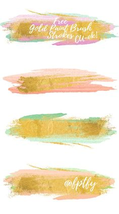 Gold Brush Free Clipart These beautiful strokes can be used for so many different things! Use them while you create your cards, graphics, quotes, invitations, scrapbook pages and more. Paint Strokes, Brush Strokes, Clip Art, Web Design, Free Graphics, Grafik Design, Gold Paint, Paint Brushes, Digital Scrapbooking