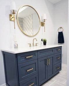 navy Bathroom Decor Taking some bathroom decor navy design. Thanks for helping me completing my navy and white bathroom ideas. CHECK THIS 25 Most Popular Navy Bathroom Design Ideas and Tips Youll Love for more detail. Bathroom Renos, Basement Bathroom, Bathroom Renovations, Bathroom Interior, Bathroom Flooring, Modern Bathroom, Bathroom Ideas, Bathroom Organization, Master Bathrooms