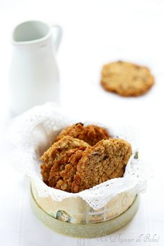 Cookies ou biscuits au muesli (fondants, croustillants et gourmands) ©Edda Onorato