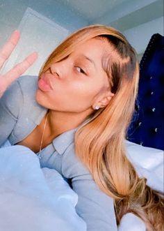 Baddie Hairstyles, Black Girls Hairstyles, Weave Hairstyles, Pretty Hairstyles, Sew In Wig, Selfies, Curly Hair Styles, Natural Hair Styles, Birthday Hair