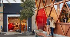 The design of this new ramen bar is adding to San Francisco s street culture Photography by Bruce Damonte Architect Craig Steely has sent us photos of his latest work Orenchi Beyond a ramen bar nbsp hellip Ramen Bar, Ramen Restaurant, Ramen Shop, Restaurant Design, Shop Fronts, Shop Icon, Street Culture, Coffee Design, Facade Design