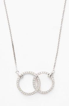 Kc designs diamond lattice circle pendant necklace in 14k white gold white gold nordstrom bony levy double diamond circle pendant necklace nordstrom exclusive aloadofball Choice Image