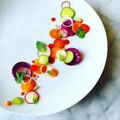 Organic Vietnamese salad with purple cabbage, carrot, radish, mint, cilantro, red chile, red onion, cucumber, pine nuts, and dressed in vegan nuoc mam. #cooking #theartofplating #farmtotable #gastroart #salad #vietnamesesalad #cucumber #purplecabbage #carrot #mint #cilantro #healthyeating #organicfood #redchile #vegan #paleo #foodporn #foodphotography #pnw #seattle #foodie #instafood #glutenfree #nutrition #goi