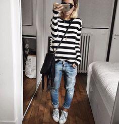 New Street Style Looks - Fashion Design Mode Outfits, Jean Outfits, Fall Outfits, Casual Outfits, Fashion Outfits, Womens Fashion, Fashion Ideas, Fashion Design, New Street Style
