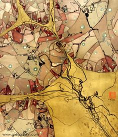 """Crackled Neuron"" art by Neuroscientist and Artist, Greg Dunn."