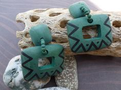 A personal favorite from my Etsy shop https://www.etsy.com/listing/129303068/southwestern-green-pierced-earrings
