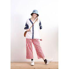Striped Wide Legs Pants