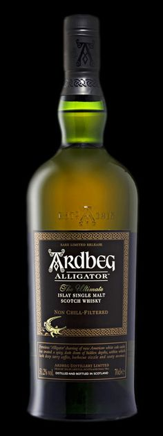 Ardbeg Islay Single Malt Scoth Whisky. Delicious. Tastes like charcoal, sea salt and caramel.