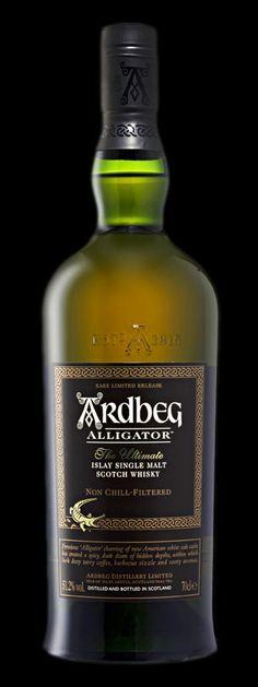 Ardbeg Islay Single Malt Scoth Whisky. Delicious. Tastes like charcoal, sea salt and caramel.