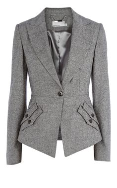 Modern Blazer that can be worn with a skirt, pant or jeans. Great essential piece to your wardrobe.    80 percent Wool, 15 percent polyamide,5 Elastane.