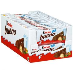Ferrero Kinder Bueno Chocolate Bars 30 x in Box New from Germany Chocolate Hazelnut Cookies, Chocolate Covered, Ferrero Chocolate, Mars Chocolate, Fini Tubes, Cool Fidget Toys, Milk Ingredients, Favorite Candy, Food Goals
