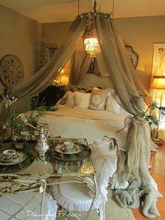 Bed decor crown magic :)
