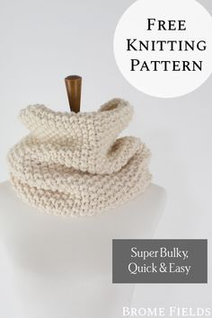 {FREE} Seed Stitch Cowl Knitting Pattern : REFLECTION - Get your free seed stitch cowl knitting pattern! Just look at that texture! It's easy to see why - Infinity Scarf Knitting Pattern, Knit Headband Pattern, Dishcloth Knitting Patterns, Sweater Knitting Patterns, Rib Stitch Knitting, Knitting Stitches, Free Knitting, Pull Crochet, Peek A Boo