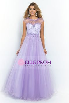 2015 Prom Dress Scoop A Line/Princess Open Back Tulle With Beads CAD 229.94 EPPR1XFLBD - ElleProm.com for mobile