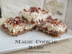 Magic cookie bars-Double Chocolate, coconut, and pecans really rock this snack!  #SoEasy http://www.myturnforus.com/2015/05/magic-cookie-bars.html
