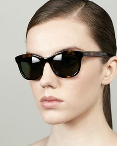 Bancroft Sunglasses, Dark Tortoise by Barton Perreira at Neiman Marcus.