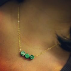 Green marbled necklace by jewelsdejuliet on Instagram and Facebook
