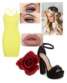 """""""Untitled #19"""" by thamyresfortunato ❤ liked on Polyvore featuring Boohoo, Steve Madden and Emily Rose Flower Crowns"""