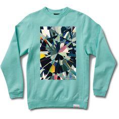 Simplicity Box Crewneck Sweatshirt in Diamond Blue ($60) ❤ liked on Polyvore featuring tops, hoodies, sweatshirts, crew-neck sweatshirts, crew neck tops, crew neck sweat shirt, blue top and diamond crew neck sweatshirts